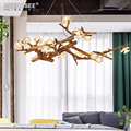 MEEROSEE New Creative Flower Branch Shade House Decorative Lighting Chandeliers Pendant Lamp for Restaurant Coffee Shop MD85426
