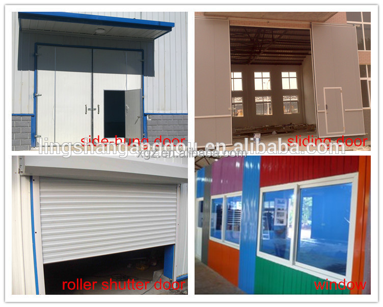 Prefabricated Galvanized Steel Structure Workshop Shed