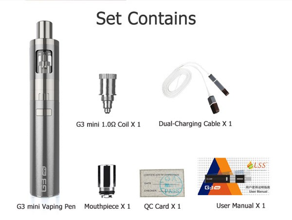 Colorful E Cigarette Starter Kit 900mAh LSS G3 mini G3 kit