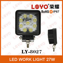 Good quality Off Road LED work light cheap square 27w car led work light in china square 27w car led work light