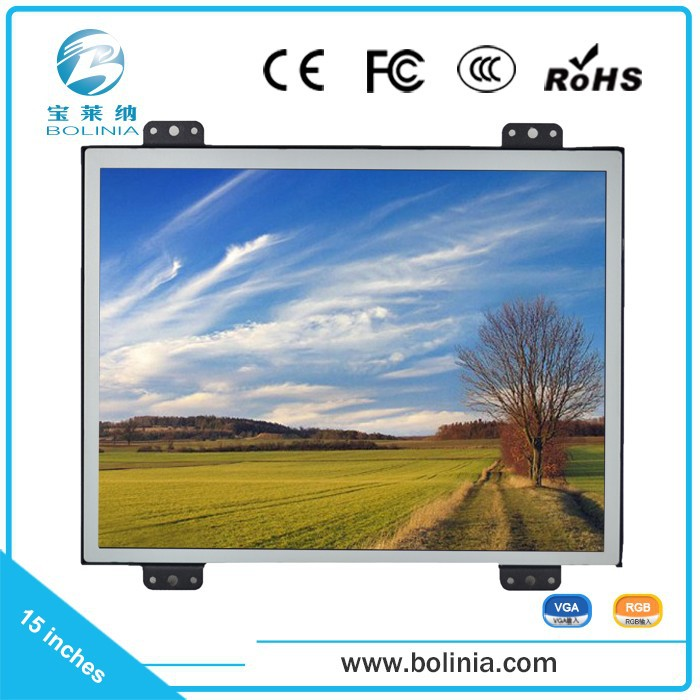 "B150-K hot selling custom 15""industrial LCD open frame monitors"