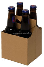 Kraft Paper 4 Pack Bottle Carrier for Wine