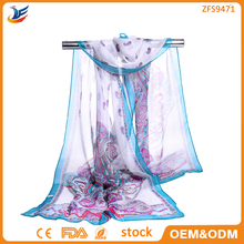 wholesale stock New Fashion Cheap Lady Retro Long Soft Print Hijab Chiffon Voile Scarf Wrap Shawl Stole Scarves