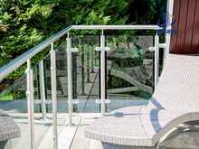 glass channel stainless steel stair handrail
