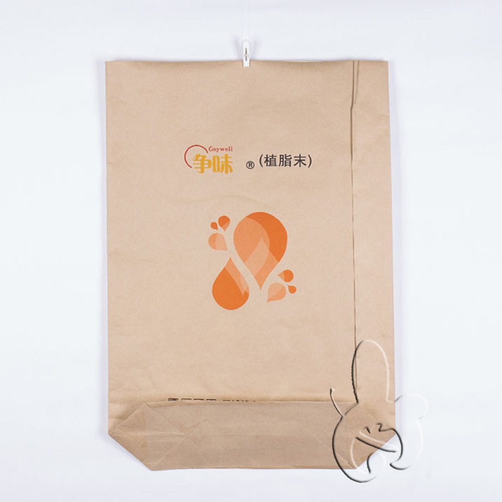 Custom Plastic Lined Kraft Paper Bags For Cement, flour, rice fertilizer, feed