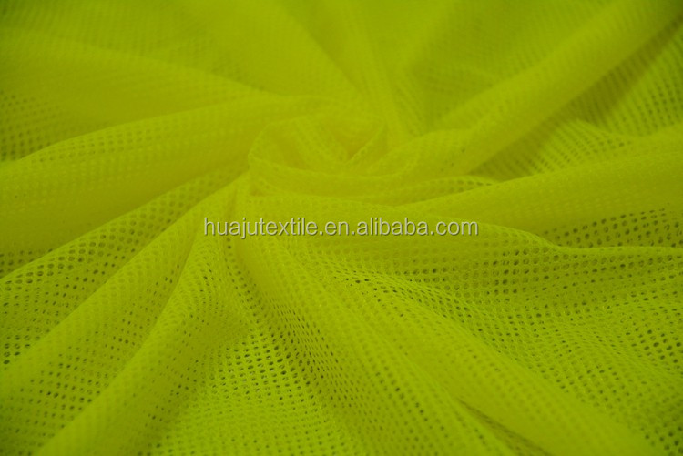 China factory sales polyester knitted stretch gold metallic mesh fabric
