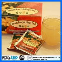 FDA Approved Instant Honey Ginger Tea, Instant Ginger Tea Granules, Honeyed Lemon Ginger Drink