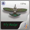 Wholesale metal custom Fly badges Wing enamel pins badge holder