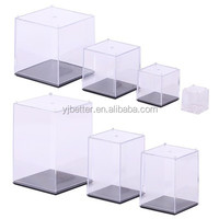 Acrylic Collectible Figures Protech Display Shadow Box, Plexiglass Mini Figure Display Case, Clear Stands for Toys Collectibles