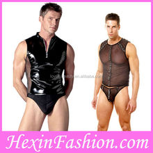 Wholesale 2013 Cheap Hot Fashion Sexy Man Leather Catsuit