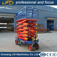 Portable adjustable work platform with 10m height