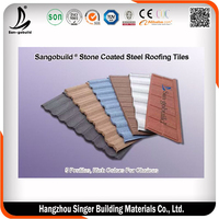 Decorative metal roof tiles /building materials for house stone coated roof tile/ good metal