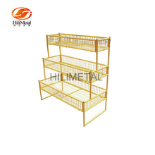 Banana Rack Fruit Display Stand 3 Tiers Vegetable Rack for Store