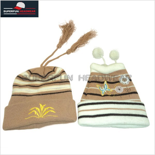 knitted pattern warm funny newborn baby beanie hat