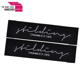 JIEFA Polyester customize woven labels for cotton clothing garment