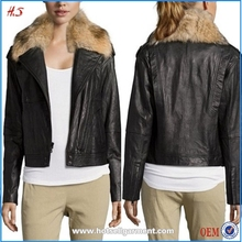 Best Selling Mature Women Wear Casual Leather Winter Jacket For Women