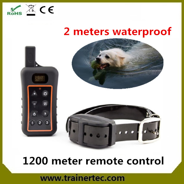 best training collar for dogs 1200M remote control with 80 hours stand by time