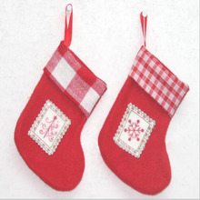Gift Bags Red Cotton Christmas Hose