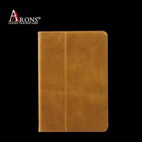 Book design top grain leather wallet case for ipad air 2