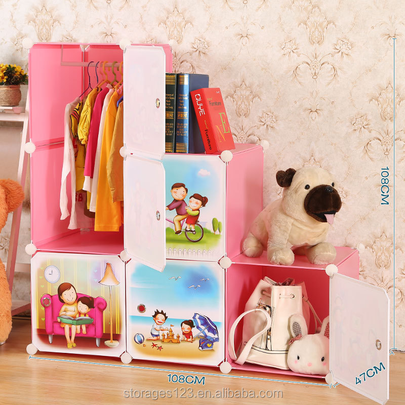 Multifunction outdoor plastic folding kids storage box shelf for bathroom