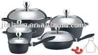 18pcs die cast aluminum cookware/kitchenware set