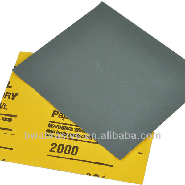 Waterproof Silicon Carbide Sand Paper