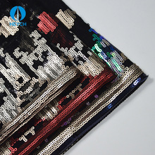 Cloth Material Embroidered Custom-made Sequin Fabric