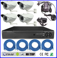professional home security camera systems hd 720p ip camera h.264 P2P POE 4ch network standalone cctv camera dvr kit (BS-NK05)