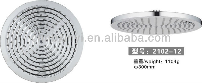 High quality ABS plastic chrome water saving top shower/shower head
