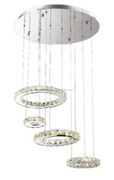 led silver 3 ring style chandelier led lights ceiling