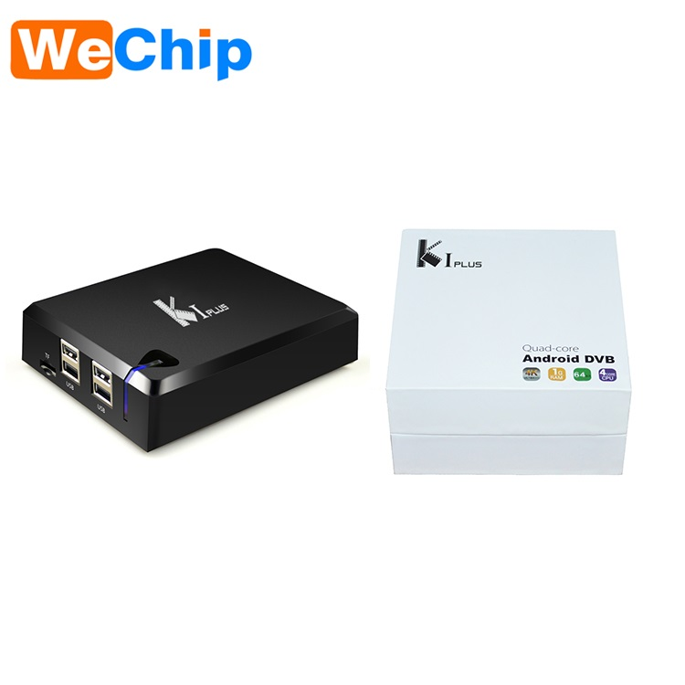 K1 Plus Amlogic S905 OTT TV Box support Bluetooth Quad Core Android 5.1.1 Wifi Media Player K1 plus DVB S2 + DVB T2