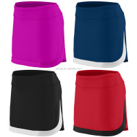 Sportswear Women's Workout Color Block Skort Tennis Rugby Dancing Cheerleading Athletic Skirt Mini Ladies