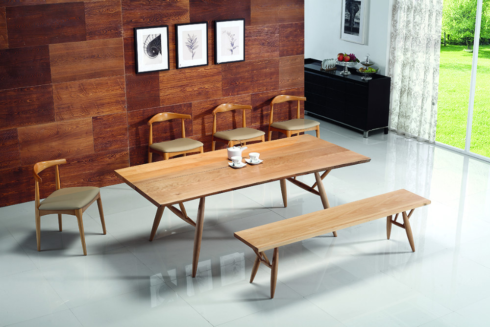 Wooden dining table and chairs japanese style dining for Asian style dining table and chairs