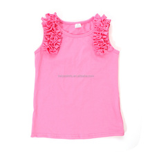 Candy color high quality kids Sleeveless top baby clothing shirt girls wearing only blouses