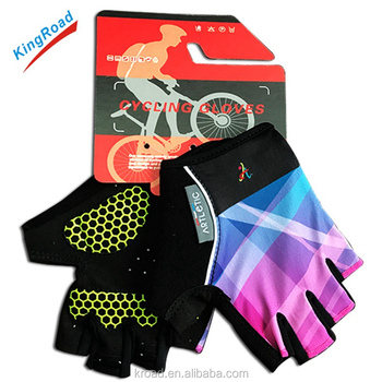 2017 wholesale high quality half finger best padded gloves cycling