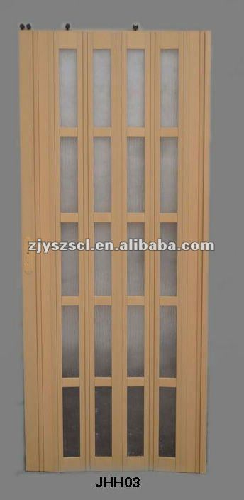 Plastic door decoration panel/Bathroom PVC folding door