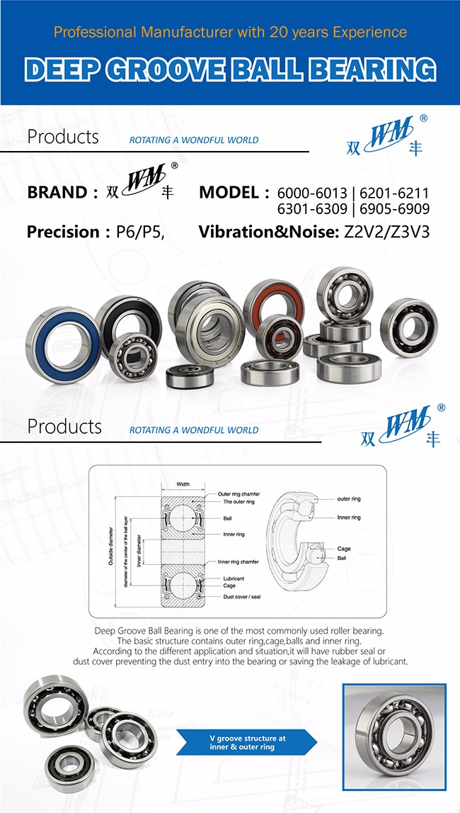 MLZ WM BRAND 2RS SERIES RUBBER SEAL 6002 6003 6004 6005 6006 6008 6009 6007 37nse bearing
