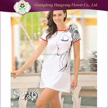 Ladies' Kniting Printing Sexy Casual Hot Sale Night Wears