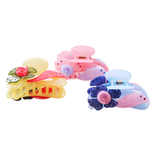 cute mini candy color plastic fine claws jaw hair clips for kids accessories