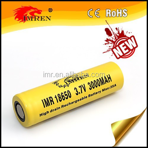 imren 18650 3000mah 35a battery 3.7v nickel iron batteries for sale lithium battery