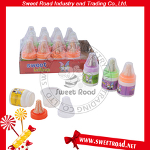 Baby Bottle Nipple Shaped Sweet Lollipop Candy with Sour Powder