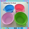 Expandable/Food Grade Silicone Collapsible Dog Travel Water Bowl