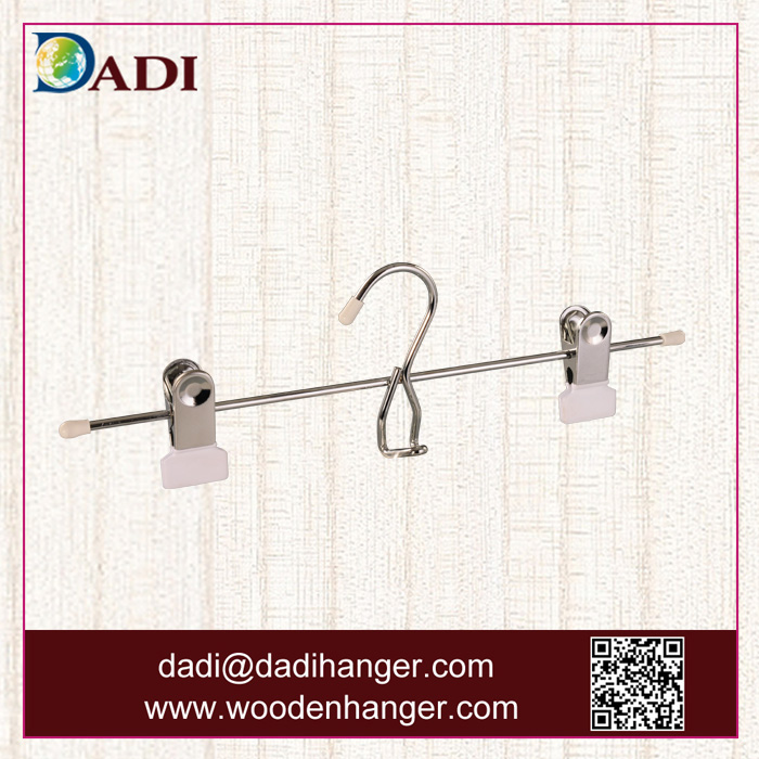 Bulk order metal wire pant hanger with clip