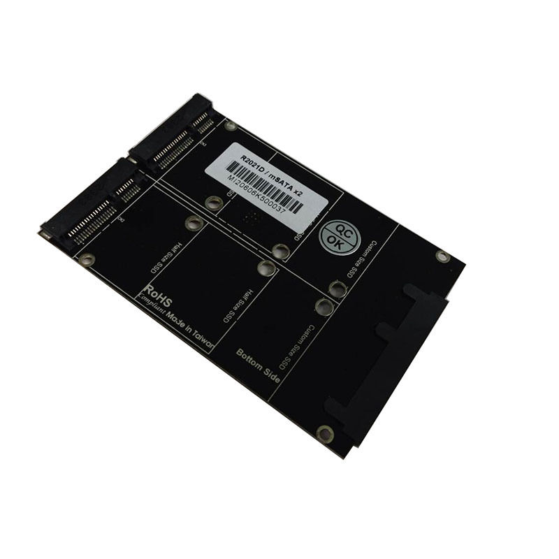 "New SATA 22Pin to mSATA (mini PCI-e) x2 RAID SSD Adapter Card for 2.5"" HDD Drive"