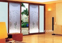 sell 4mm 6mm 5mm window glass etching designs