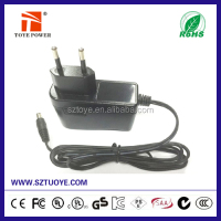 China supplier hot sales power adapter 9v 1.2a tablet charger