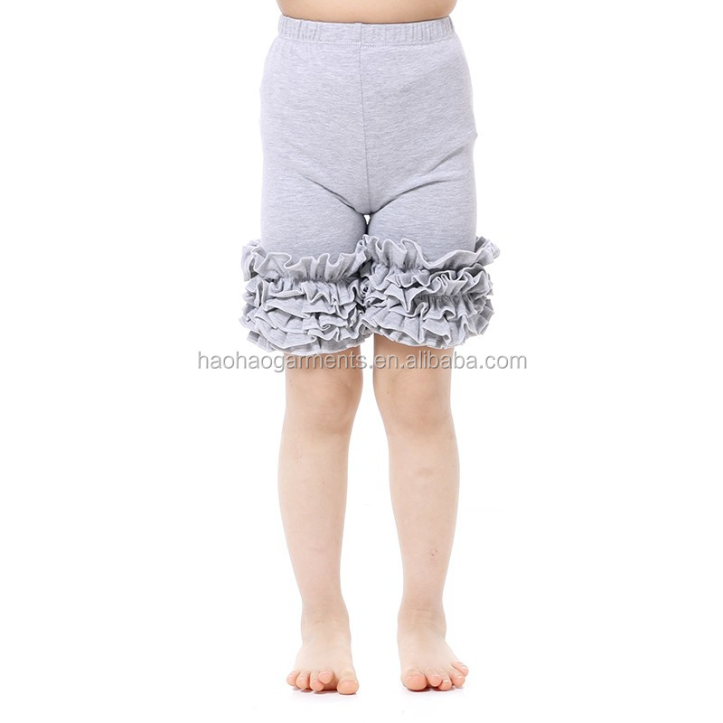 girls summer ruffled icing tight panty kids sports shorts for teenagers