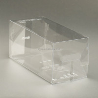 Custom made transparent clear plastic container boxes