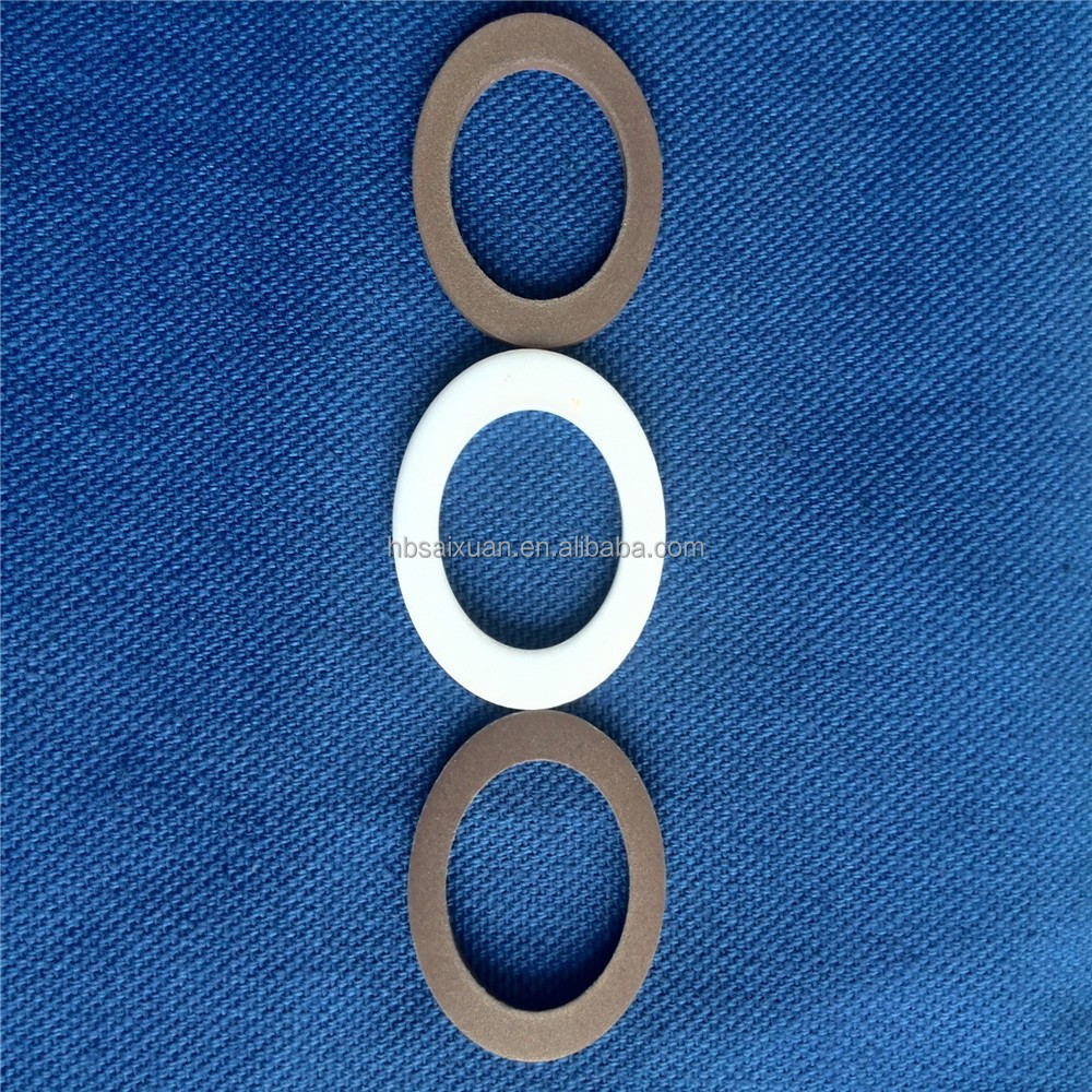 Glass rubber spiral wound gasket shellac