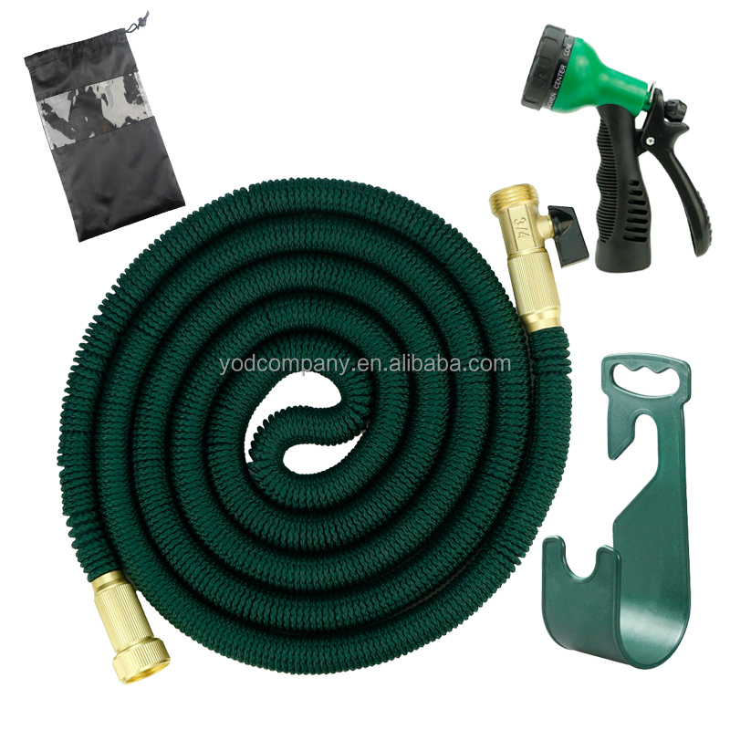 50ft dark green <strong>hose</strong> with plastic hanger and spray nozzle-Macpherson